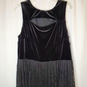 Black Velvet & Lace Dress Lane Bryant New Size 16
